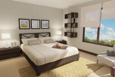 Dormitorio principal, departamento tipo A